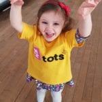 Tot enjoying toddler dance class