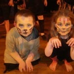 Toddlers dressed up during drama class